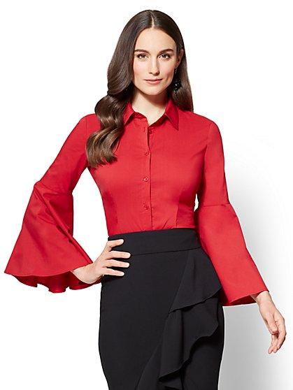 Bell-Sleeve Shirt - New York & Company
