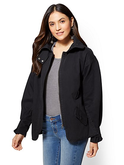 Belted Anorak Jacket - New York & Company