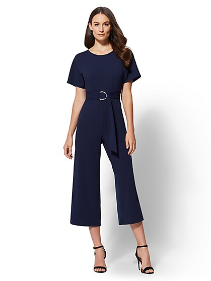 Belted Dolman Jumpsuit - New York & Company