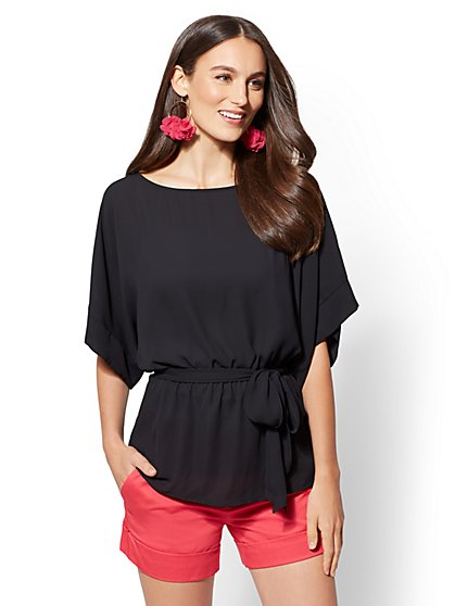Belted Kimono Blouse - New York & Company