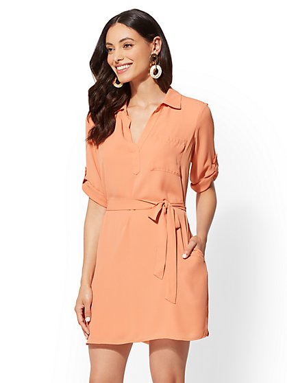 Belted Shirtdress - New York & Company