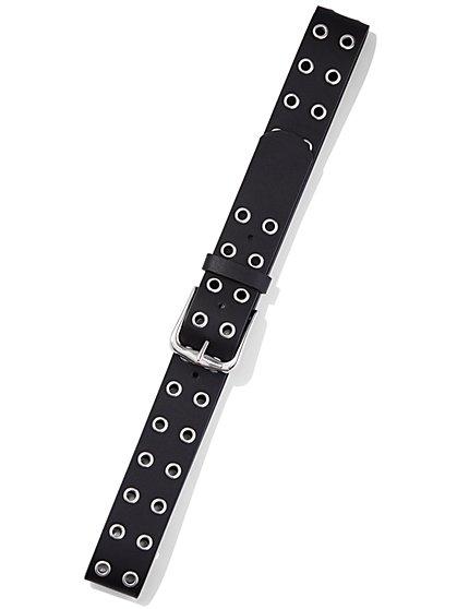 Black Grommet Belt - New York & Company