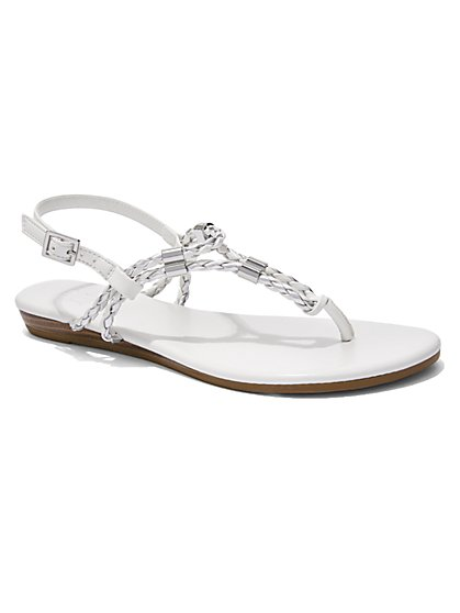 Braided T-Strap Sandal - New York & Company