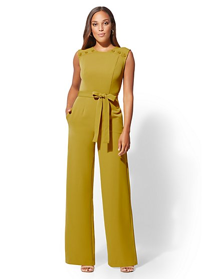 Button-Accent Jumpsuit - New York & Company