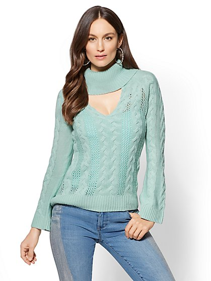 Choker Turtleneck Sweater - New York & Company
