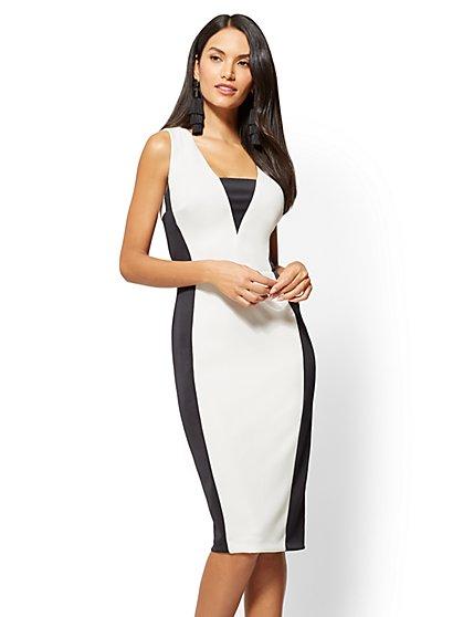 Colorblock Sheath Dress - New York & Company