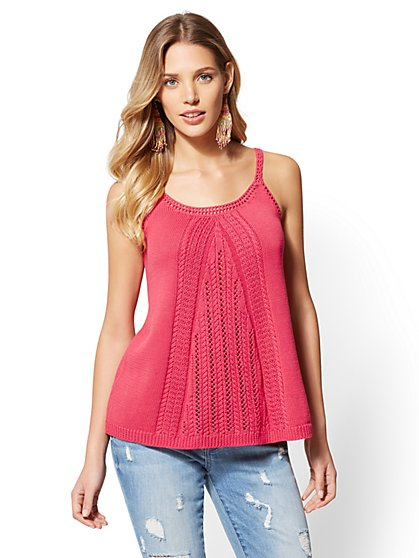 Crochet Sweater Tank Top - New York & Company