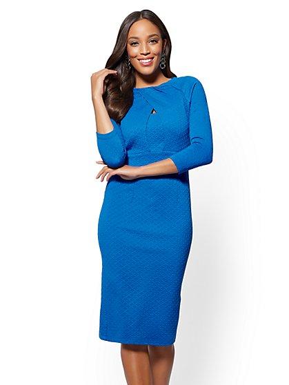 Crossover-Detail Sheath Dress - New York & Company
