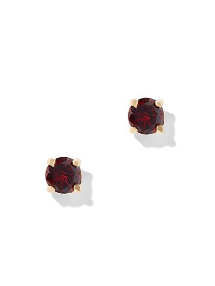 Cubic Zirconia Goldtone Post Earring - New York & Company