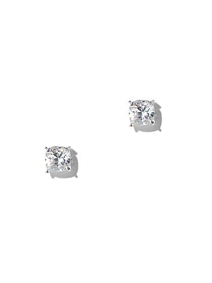 Cushion-Cut Cubic Zirconia Post Earring - New York & Company