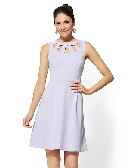 Cutout Fit and Flare Dress - New York & Company