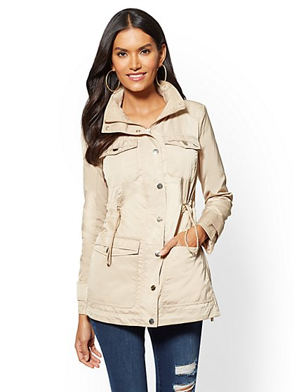 Drawstring Hooded Coat - New York & Company