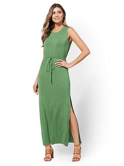 Drawstring Maxi Dress - New York & Company