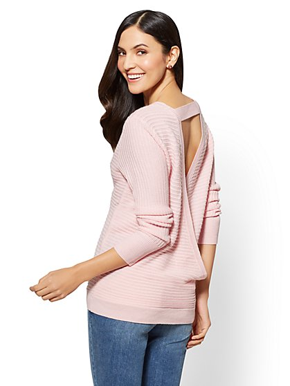 Envelope-Back Sweater - New York & Company