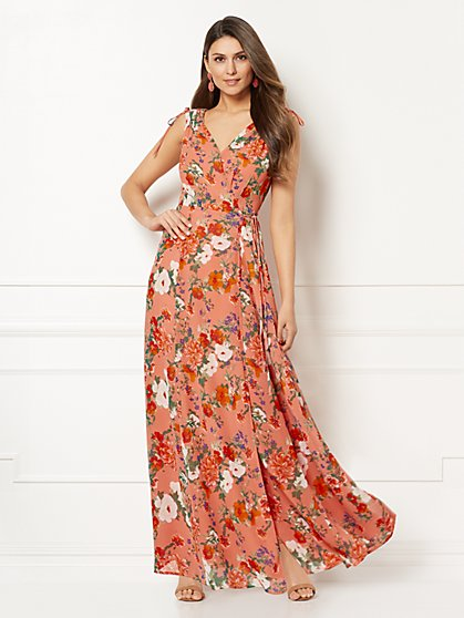 Eva Mendes Collection - Allegra Floral Wrap Maxi Dress - New York & Company