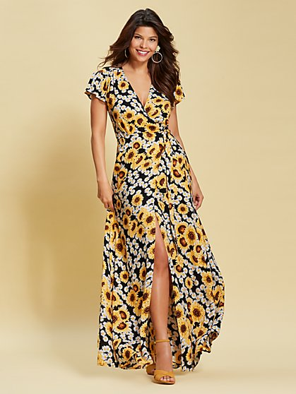Eva Mendes Collection - Allison Floral Maxi Dress - New York & Company
