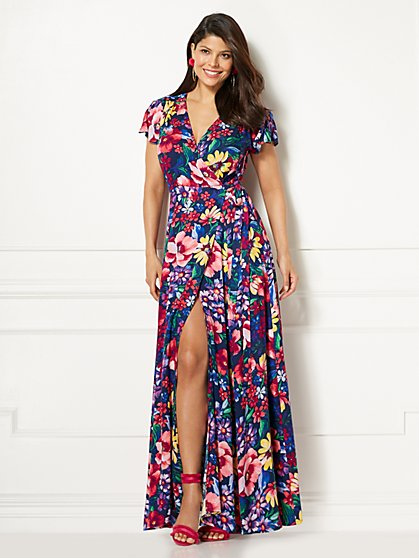 Eva Mendes Collection - Allison Floral Wrap Dress - New York & Company