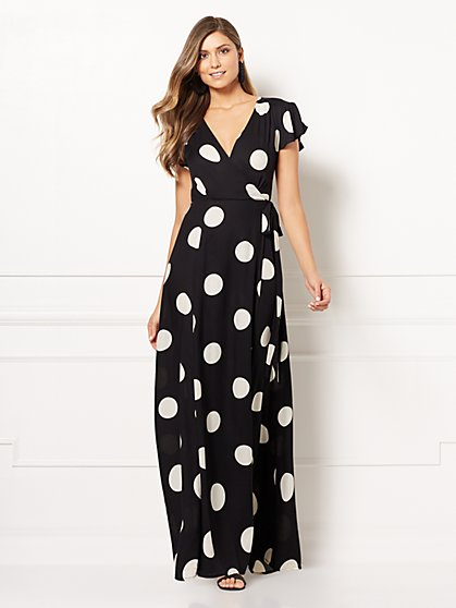 Eva Mendes Collection - Allison Polka-Dot Wrap Dress - New York & Company