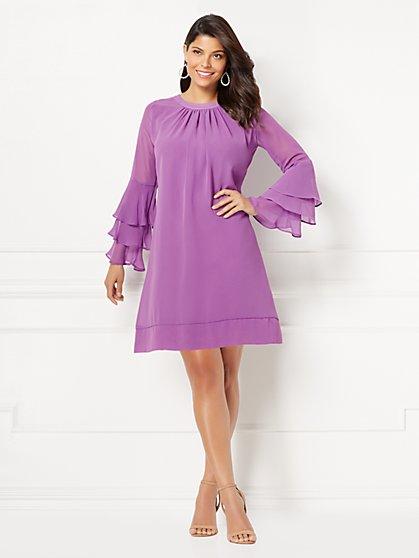 Eva Mendes Collection - Bell-Sleeve Sabrina Dress - New York & Company