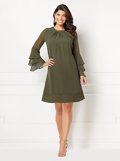 Eva Mendes Collection - Bell-Sleeve Sabrina Dress - New York & Company