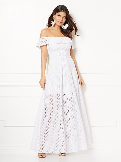 Eva Mendes Collection - Carmela Off-The-Shoulder Maxi Dress - New York & Company
