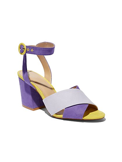 Eva Mendes Collection - Colorblock Sandal - New York & Company