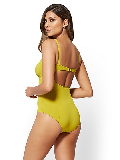 Eva Mendes Collection - Corset One-Piece Swimsuit - New York & Company