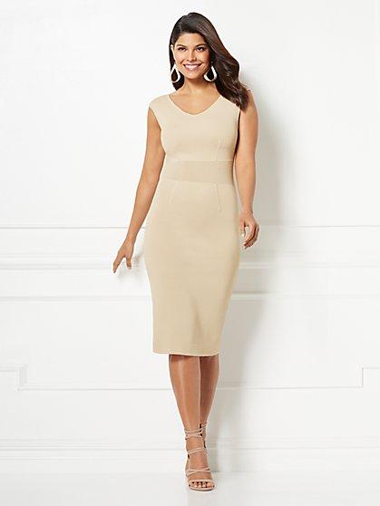 Eva Mendes Collection - Dascha V-Neck Sweater Dress - New York & Company
