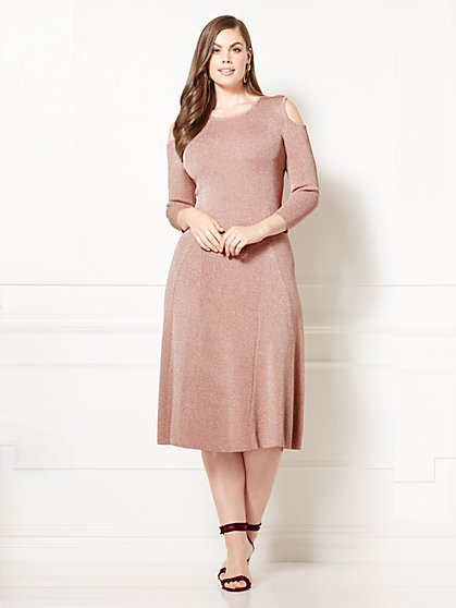 Eva Mendes Collection - Deanna Sweater Dress - Plus - New York & Company