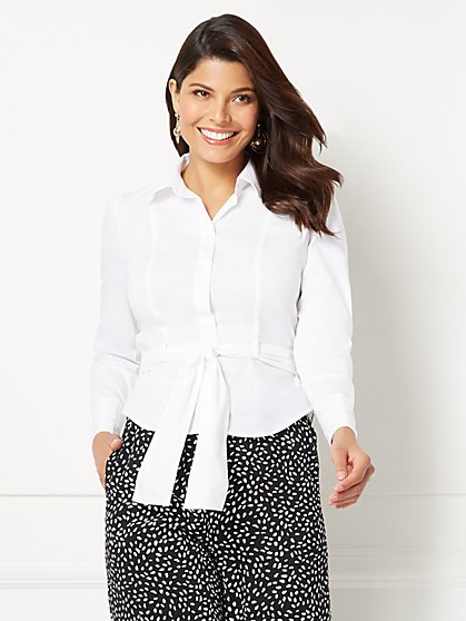 Eva Mendes Collection - Donna Belted Shirt - New York & Company
