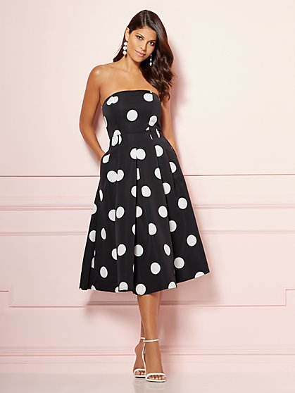 Eva Mendes Collection - Dot-Print Del Mar Dress - New York & Company