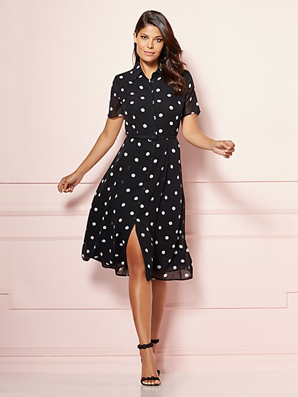 Eva Mendes Collection - Dot Print Pia Shirtdress - New York & Company