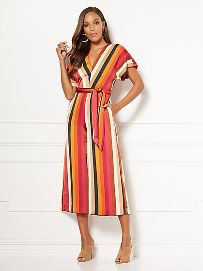 Eva Mendes Collection - Erika Stripe Jumpsuit - New York & Company