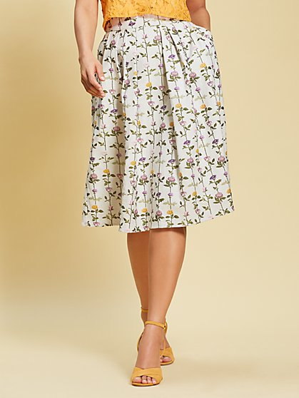 Eva Mendes Collection - Floral Maddie Skirt - New York & Company