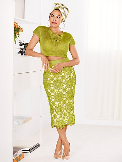 Eva Mendes Collection - Gina Crochet Skirt - New York & Company