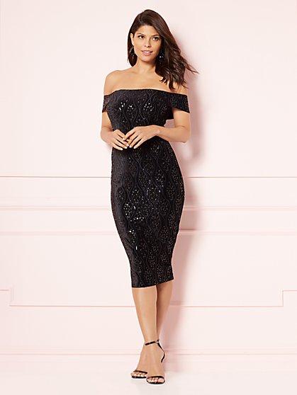 Eva Mendes Collection - Giovanna Velvet Sheath Dress - New York & Company