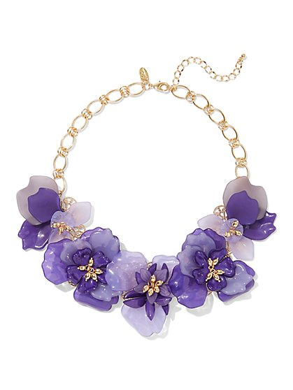 Eva Mendes Collection - Goldtone Floral Statement Necklace - New York & Company