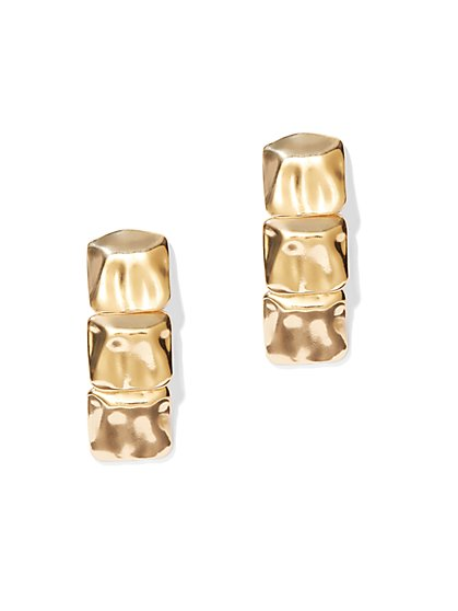 Eva Mendes Collection - Goldtone Square Drop Earring - New York & Company