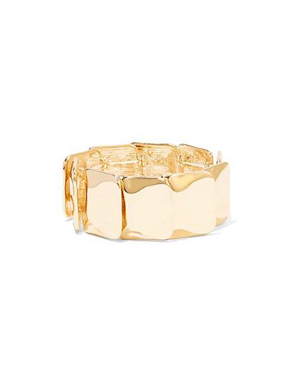 Eva Mendes Collection - Goldtone Square Link Bracelet - New York & Company