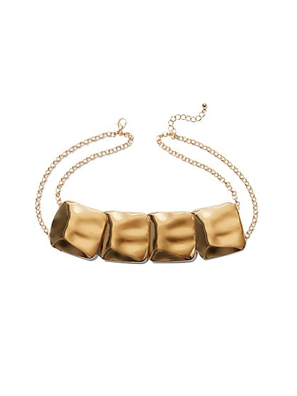 Eva Mendes Collection - Goldtone Square Link Necklace - New York & Company