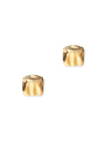 Eva Mendes Collection - Goldtone Square Post Earring - New York & Company