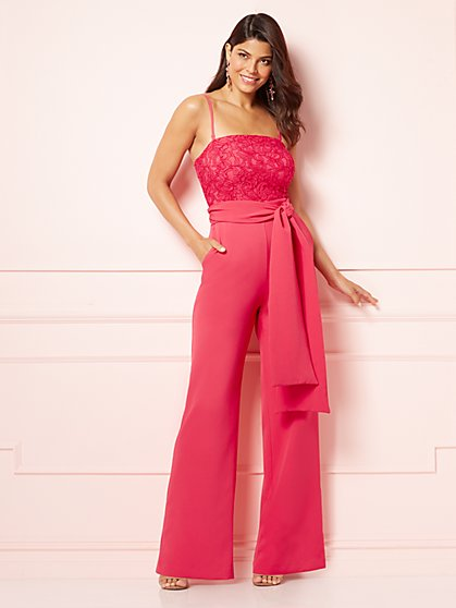 Eva Mendes Collection - Golnesa Lace-Bodice Jumpsuit - New York & Company