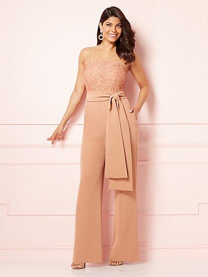 Eva Mendes Collection - Golnesa Lace-Bodice Jumpsuit - New York & Company