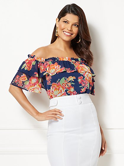 Eva Mendes Collection - Isla Off-The-Shoulder Blouse - New York & Company
