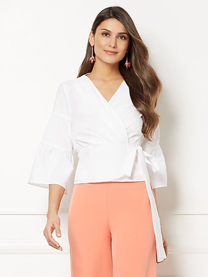 Eva Mendes Collection - Jordyn Wrap Blouse - New York & Company