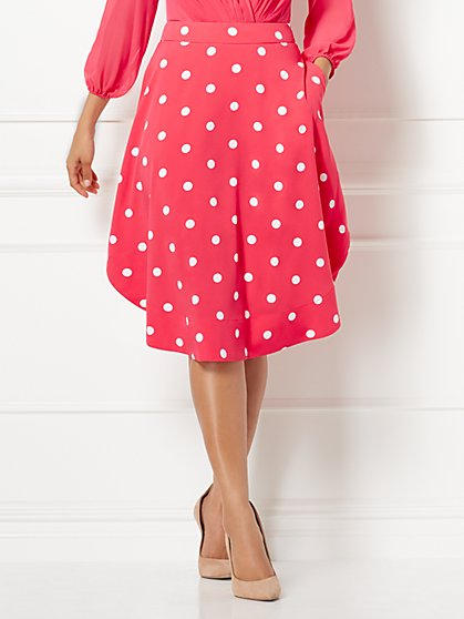 Eva Mendes Collection - Kaley Dot-Print Full Skirt - New York & Company