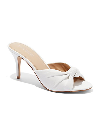 Eva Mendes Collection - Knot-Front Faux-Suede Sandal - New York & Company