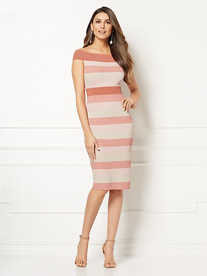 Eva Mendes Collection - Kristen Stripe Sweater Dress - New York & Company