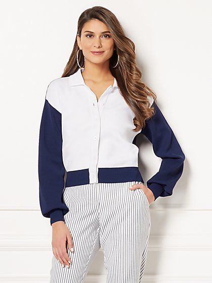 Eva Mendes Collection - Lauryn Colorblock Cardigan - New York & Company