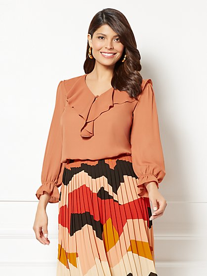 Eva Mendes Collection - Lillie Ruffled Blouse - New York & Company